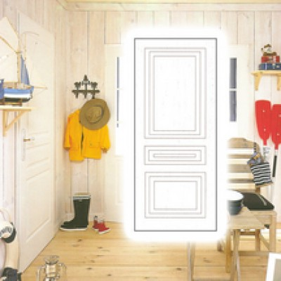 Bloc porte th1 110 pr peint huisserie 90mm n olys for Huisserie porte 73