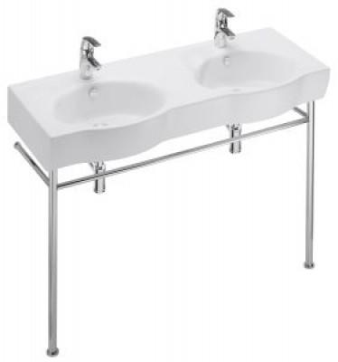 Plan vasque double OVE 120,5x47 blanc JACOB DELAFON