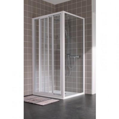 Paroi de douche ATOUT2 coulissante 3 volets 80  verre transparent LEDA
