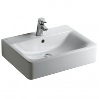 Lavabo CONNECT cube 60x46 blanc IDEAL STANDARD