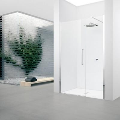 Paroi de douche YOUNG F2G fixe 87 vitré blanc NOVELLINI