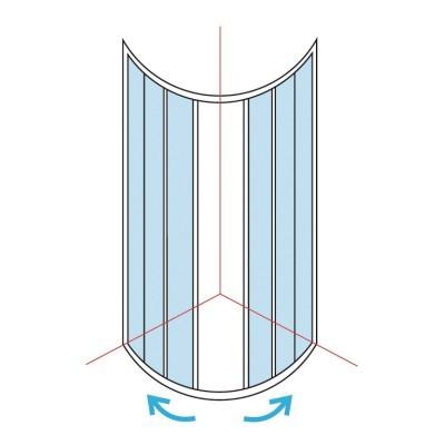 paroi de douche 1 4 de rond largeur 76 79cm verre transparent basic segment thiers 63300. Black Bedroom Furniture Sets. Home Design Ideas