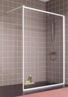 Parois de douche ATOUT2 fixe réversible 080 blanc verre granité LEDA