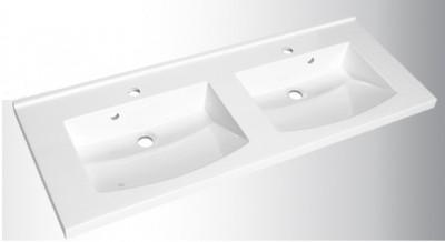 Plan vasque PREFIXE 105cm polybéton AQUARINE