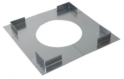 Plaque distance sécurité non ventilée 155-230mm POUJOULAT