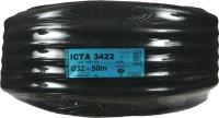 Gaine ICTA 3422 diamètre 32mm noir avec tire fil 50m DISMO FRANCE