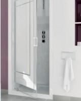 Paroi de douche SMART 2 portes fixe 117/121cm blanc verre dépoli KINEDO DOUCHE
