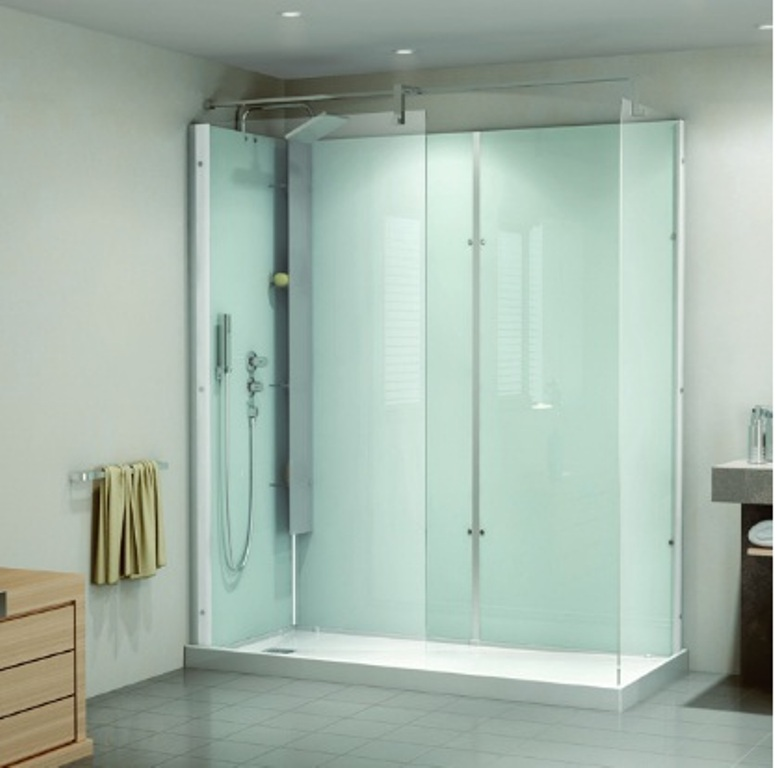 Cabine de douche kinemagic 160x70cm aquaproduction saint for Cabine de douche kinemagic