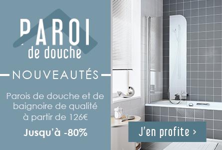 Nouveautés Parois de douche jusqu'à -80%