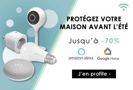 Connectez votre logement jusqu'à -70% - Packs Google Home, caméras...