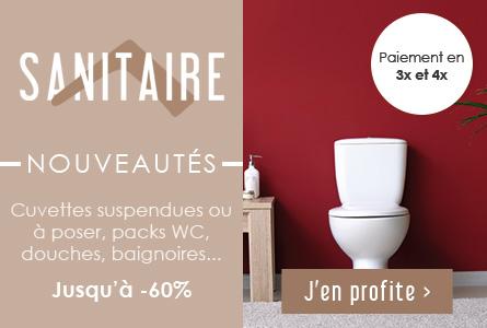 Nouveautés Sanitaire - La salle de bains en livraison jusqu'à -60% !