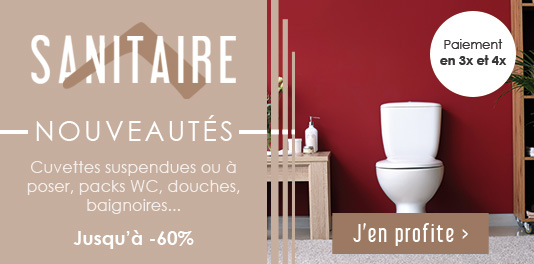 Nouveautés Sanitaire - La salle de bains jusqu'à -60% !