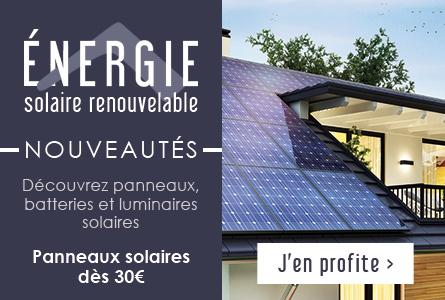 Nouveautés Énergie solaire renouvelable