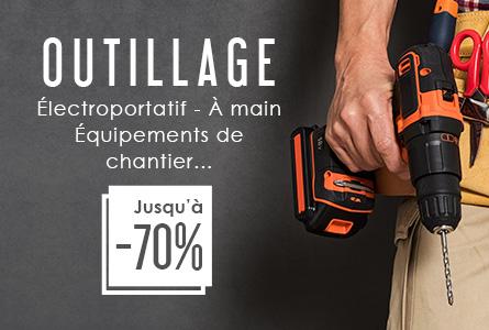 Outillage jusqu'à -70% - Électroportatif, à main, équipement de chantier...