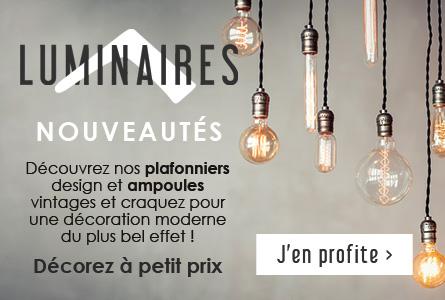 Nouveautés Luminaires - Plafonniers, ampoules... décorez à petit prix !