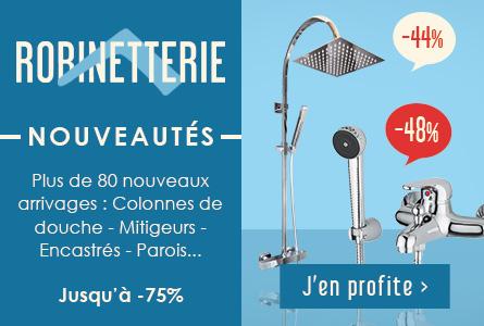 Nouveautés Robinetterie - Colonnes de douche, mitigeurs, solutions encastrés jusqu'à -90%