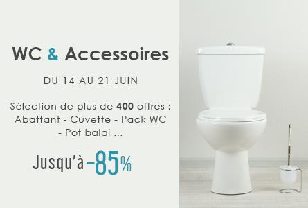 WC & Accessoires - 400 offres jusqu'à -85%