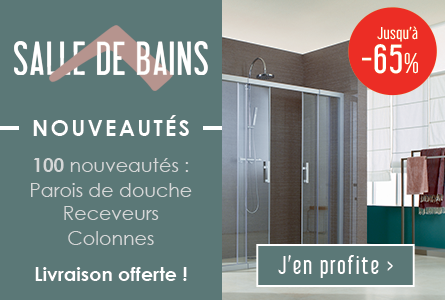 100 nouveautés salle de bains : paroi de douche, receveur, colonnes...