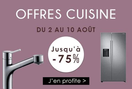 Offres Cuisine du 2 au 10 août jusqu'à -75%