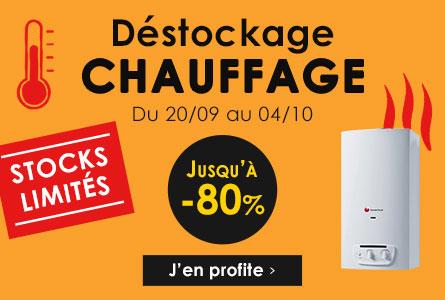 Déstockage Chauffage - Du 20 septembre au 4 octobre - Jusqu'à -80%