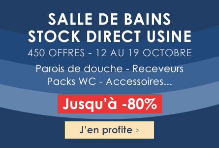 Salle de bains Stock direct usine -  950 offres jusqu'à -80%