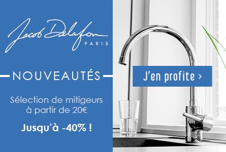 Nouveautés Jacob Delafon : Sélection de mitigeurs à partir de 20€