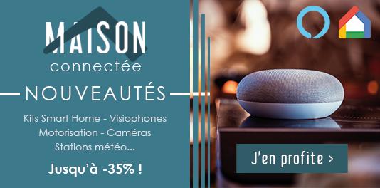 Nouveautés Domotique : Kits SmartHome, visiophones, motorisation, caméras...