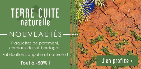 Nouveautés Terre cuite naturelle : Tout à -50% !