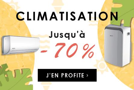 La climatisation jusqu'à -70%